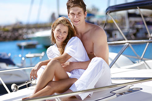 Honeymoon on a luxury yacht